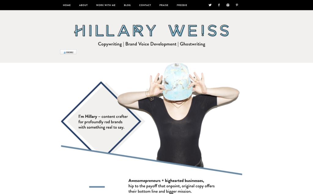 freelance writer website inspiration examples