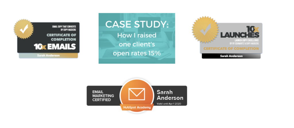 freelance writer website examples inspiration