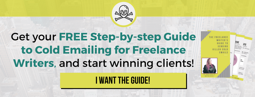 cold emailing for freelance writers