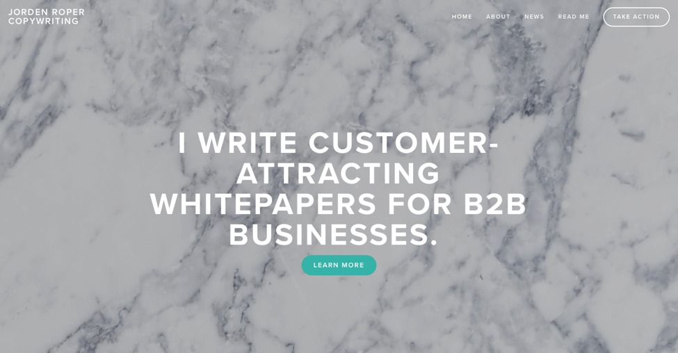 how to set up a freelance writer website