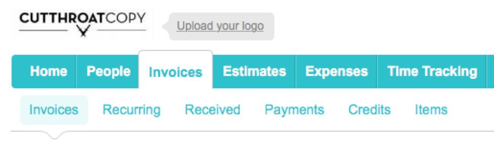 freelance writing invoice